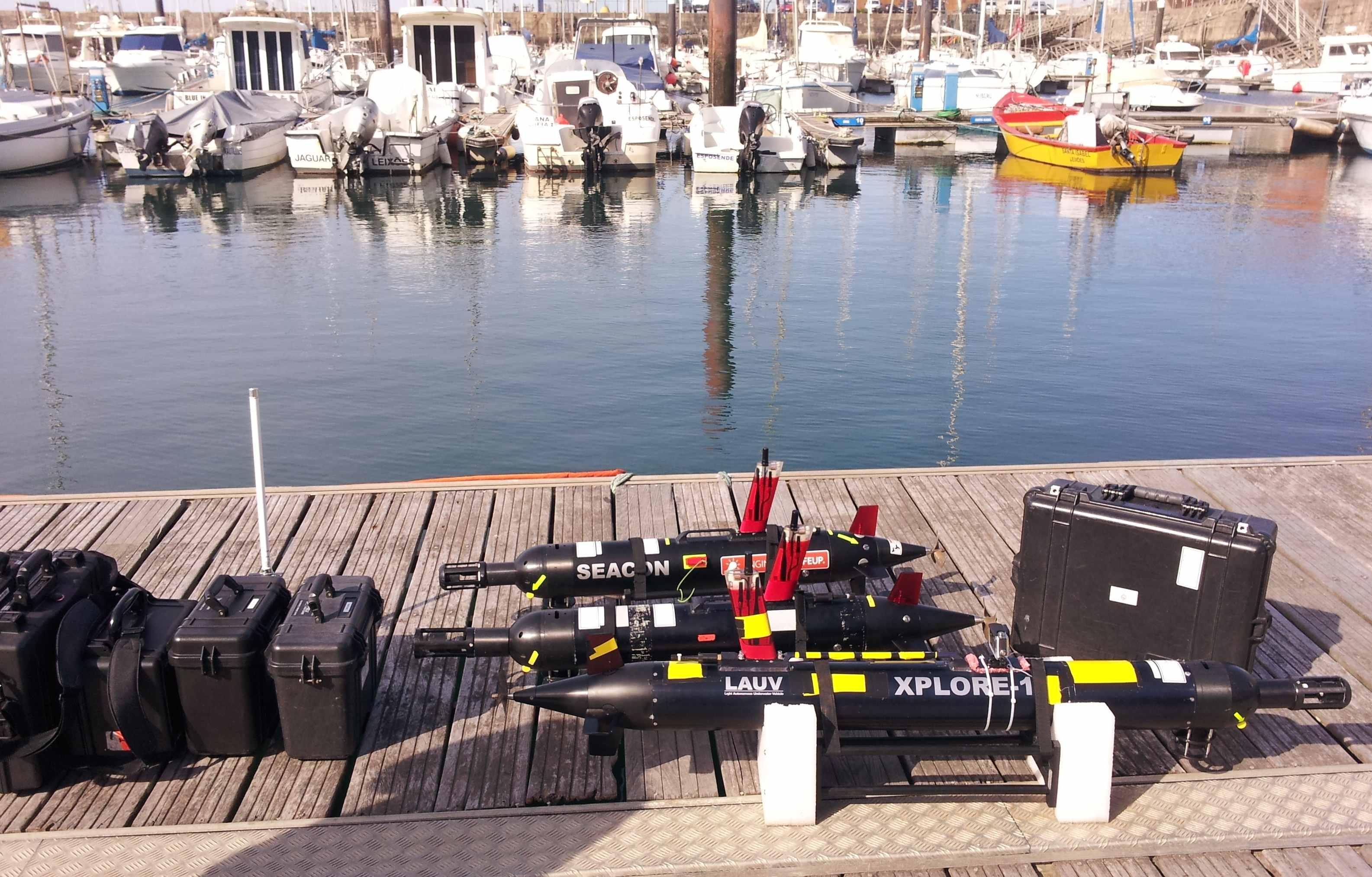 AUVs da FEUP e Manta, gateways de comunicação prontos para as operações no Porto de Leixões